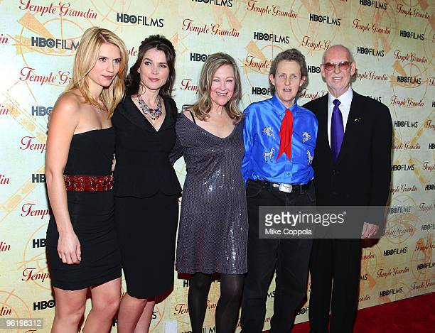 Actress Claire Danes actress Julia Ormond actress Catherine O'Hara Dr Temple Grandin director Mick Jackson attend the premiere of Temple Grandin at...