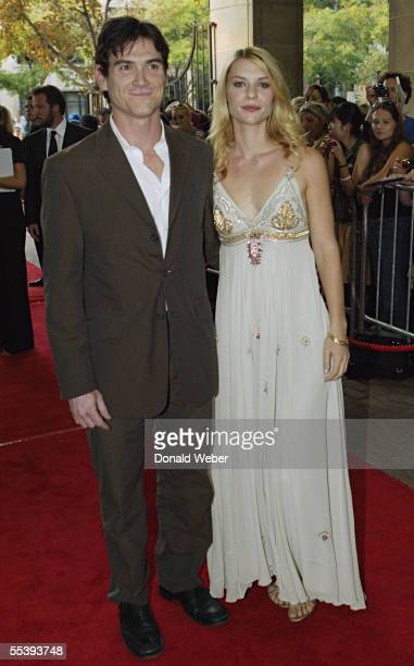 Actress Claire Danes and actor Billy Crudup arrive on the red carpet for the TIFF gala screening of the film 'Trust the Man' on September 12 2005 in...