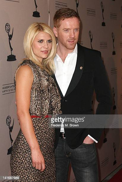 Actress Claire Danes and actor Damian Lewis attend The Academy of Television Arts Sciences Presents an Evening with Homeland at the Leonard H...