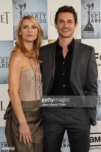 Actress Claire Danes and actor Hugh Dancy arrive at the 24th Annual Film Independent's Spirit Awards held at Santa Monica Beach on February 21 2009...