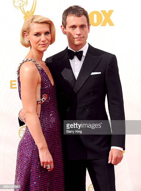 Actress Claire Danes and actor Hugh Dancy arrive at the 67th Annual Primetime Emmy Awards at the Microsoft Theater on September 20 2015 in Los...