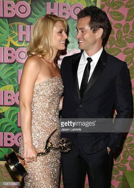 Actress Claire Danes and actor Hugh Dancy attend HBO's post Emmy Awards party at Pacific Design Center on August 29 2010 in West Hollywood California
