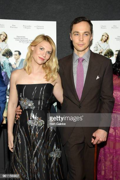 Actress Claire Danes and actor Jim Parsons attend the A Kid Like Jake New York Premiere at The Landmark at 57 West on May 21 2018 in New York City