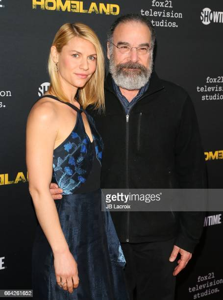 Actress Claire Danes and actor Mandy Patinkin attend the ATAS Emmy Screening of Showtime's 'Homeland' on April 03, 2017 in Los Angeles, California.