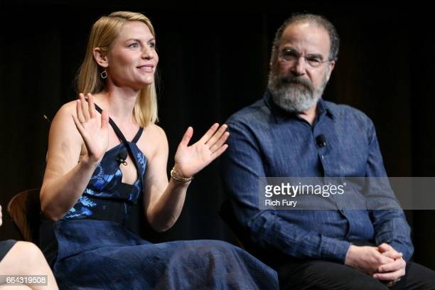 Actress Claire Danes and actor Mandy Patinkin attend the ATAS Emmy screening of Showtime's Homeland at NeueHouse Hollywood on April 3 2017 in Los...