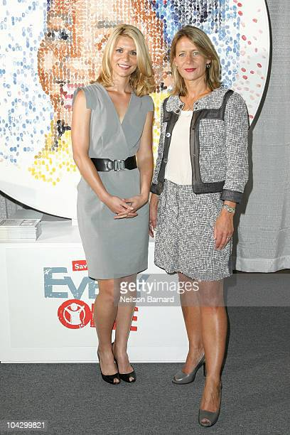 Actress Claire Danes and CEO Save The Children International, Jasmine Whitbread promote Save the Children's campaign to end child mortality at...
