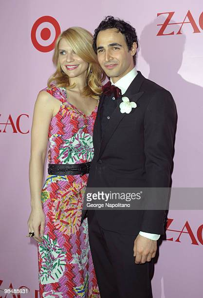 Actress Claire Danes and designer Zac Posen attend the Zac Posen for Target Collection launch party at the New Yorker Hotel on April 15, 2010 in New...
