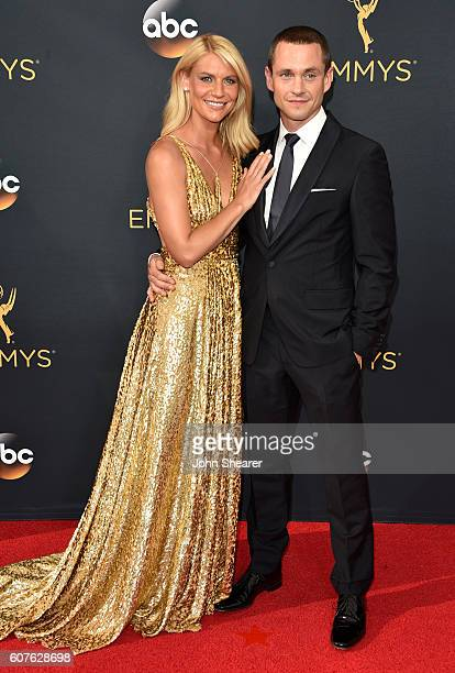 Actress Claire Danes and Hugh Dancy arrive at the 68th Annual Primetime Emmy Awards at Microsoft Theater on September 18 2016 in Los Angeles...