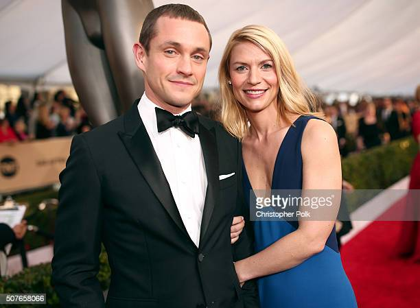 Actress Claire Danes and Hugh Dancy attend The 22nd Annual Screen Actors Guild Awards at The Shrine Auditorium on January 30 2016 in Los Angeles...