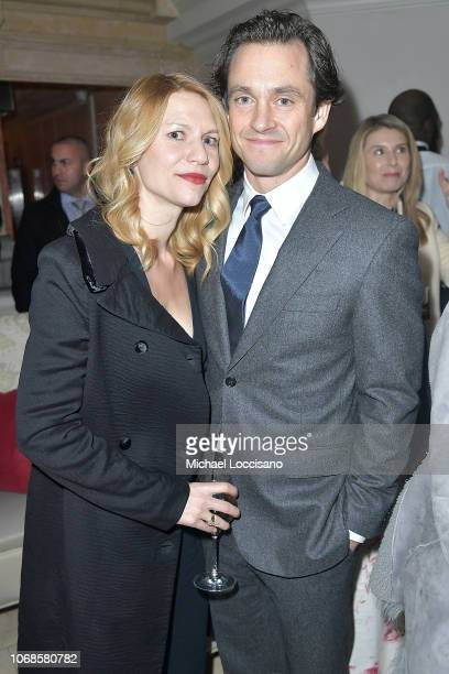 Actress Claire Danes and husband actor Hugh Dancy attend the after party following the New York premiere of 'Mary Queen Of Scots' at Paris Theater on...