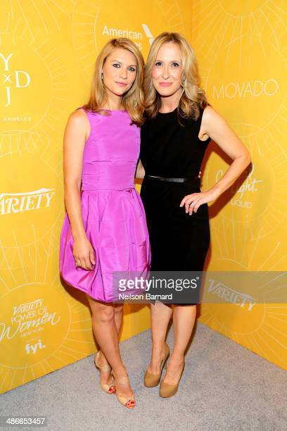 Actress Claire Danes and publisher of Variety Michelle Sobrino attend Variety Power Of Women New York presented by FYI at Cipriani 42nd Street on...