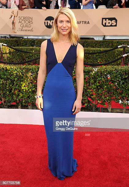Actress Claire Danes arrives at the 22nd Annual Screen Actors Guild Awards at The Shrine Auditorium on January 30 2016 in Los Angeles California