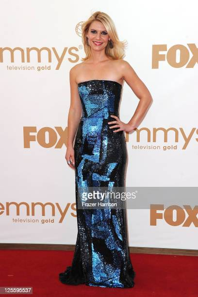 Actress Claire Danes arrives at the 63rd Annual Primetime Emmy Awards held at Nokia Theatre LA LIVE on September 18 2011 in Los Angeles California