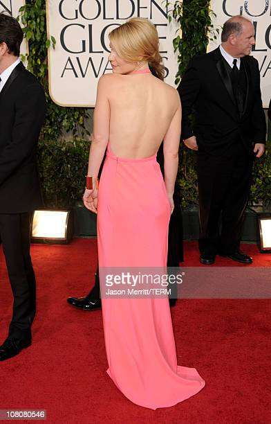 Actress Claire Danes arrives at the 68th Annual Golden Globe Awards held at The Beverly Hilton hotel on January 16 2011 in Beverly Hills California