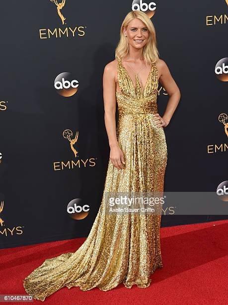 Actress Claire Danes arrives at the 68th Annual Primetime Emmy Awards at Microsoft Theater on September 18 2016 in Los Angeles California