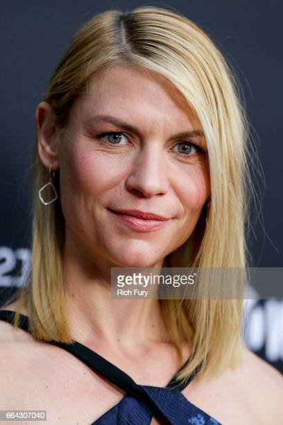 Actress Claire Danes arrives at the ATAS Emmy screening of Showtime's Homeland at NeueHouse Hollywood on April 3 2017 in Los Angeles California