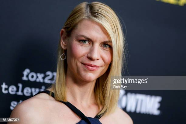"""Actress Claire Danes arrives at the ATAS Emmy screening of Showtime's """"Homeland"""" at NeueHouse Hollywood on April 3, 2017 in Los Angeles, California."""