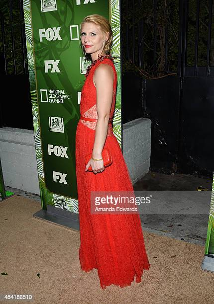 Actress Claire Danes arrives at the FOX 20th Century FOX Television FX Networks and National Geographic Channel's 2014 Emmy Award Nominee Celebration...