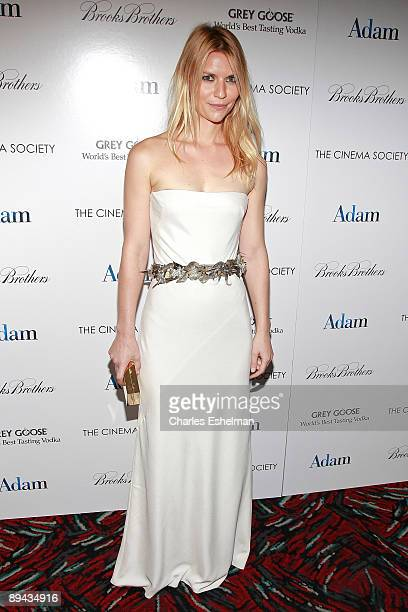Actress Claire Danes attends a screening of 'Adam' hosted by the Cinema Society and Brooks Brothers at the AMC Loews 19th Street on July 28 2009 in...