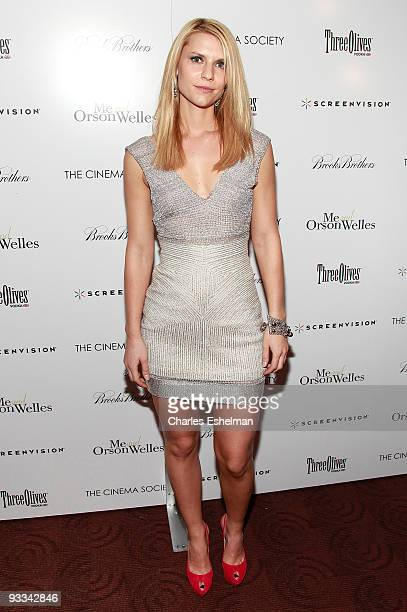 """Actress Claire Danes attends a screening of """"Me And Orson Welles"""" hosted by the Cinema Society, Screenvision and Brooks Brothers at Clearview Chelsea..."""