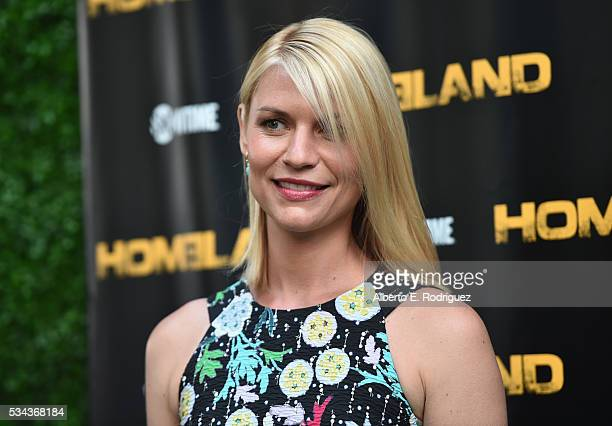 Actress Claire Danes attends an Emmy For Your Consideration Event for Showtime's Homeland at the Zanuck Theater at 20th Century Fox Lot on May 25...
