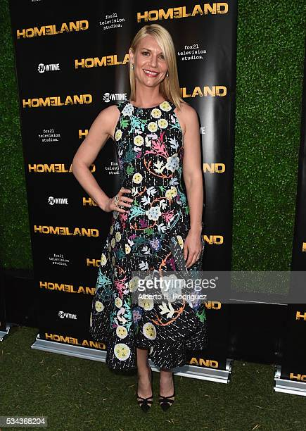 Actress Claire Danes attends an Emmy For Your Consideration Event for Showtime's 'Homeland' at the Zanuck Theater at 20th Century Fox Lot on May 25...