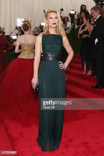 Actress Claire Danes attends 'China Through the Looking Glass' the 2015 Costume Institute Gala at Metropolitan Museum of Art on May 4 2015 in New...