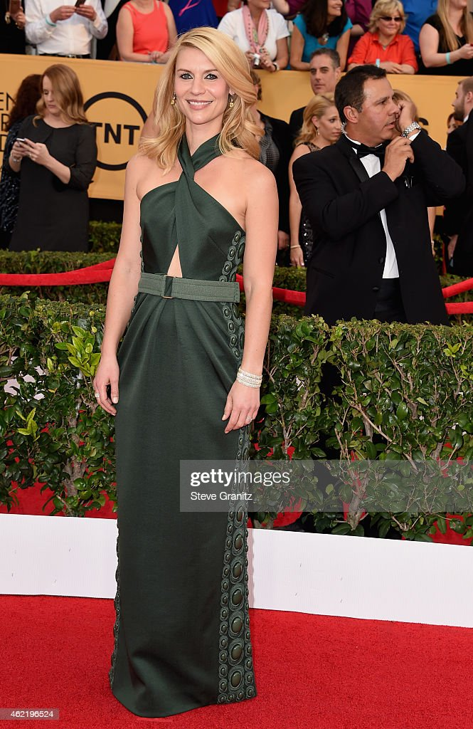 Actress Claire Danes attends the 21st Annual Screen Actors Guild Awards at The Shrine Auditorium on January 25, 2015 in Los Angeles, California.