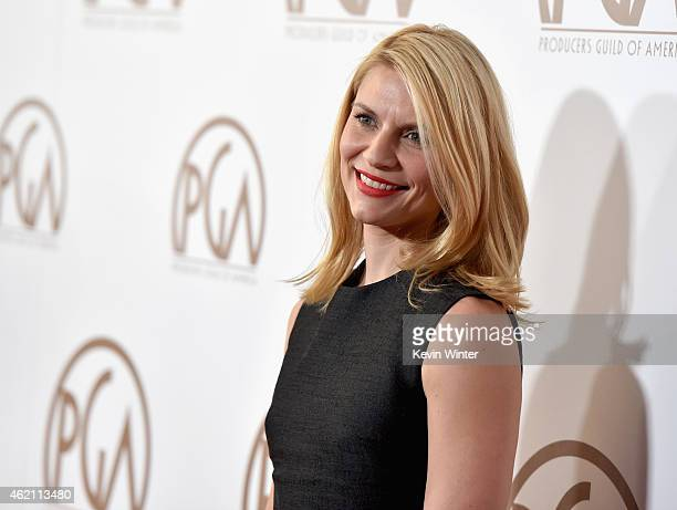 Actress Claire Danes attends the 26th Annual Producers Guild Of America Awards at the Hyatt Regency Century Plaza on January 24 2015 in Los Angeles...