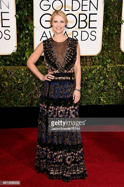 Actress Claire Danes attends the 72nd Annual Golden Globe Awards at The Beverly Hilton Hotel on January 11 2015 in Beverly Hills California