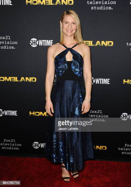 Actress Claire Danes attends the ATAS Emmy screening of Showtime's 'Homeland' at NeueHouse Hollywood on April 3 2017 in Los Angeles California