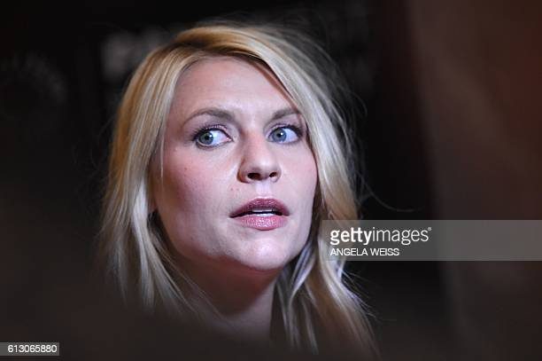 Actress Claire Danes attends the PaleyFest Made in New York Opening Night Homeland event on October 6 2016 in New York / AFP / ANGELA WEISS