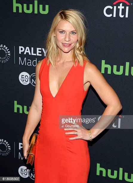Actress Claire Danes attends the PaleyFest New York 2016 Homeland screening and panel discussion at The Paley Center for Media on October 6 2016 in...