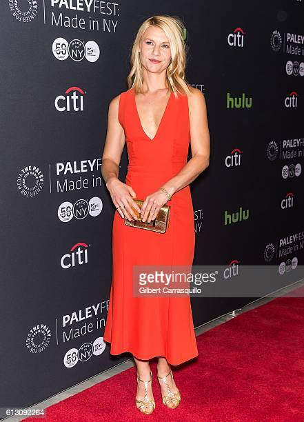 Actress Claire Danes attends the PaleyFest New York 2016 'Homeland' screening and panel discussion at The Paley Center for Media on October 6 2016 in...