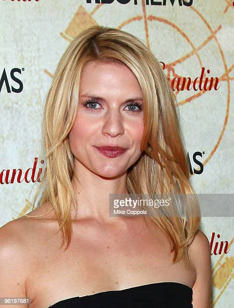 Actress Claire Danes attends the premiere of Temple Grandin at the Time Warner Screening Room on January 26 2010 in New York City
