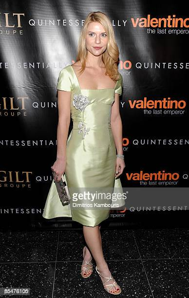 Actress Claire Danes attends the premiere of Valentino The Last Emperor at The Roy and Niuta Titus Theater at The Musuem of Modern Art on March 17...