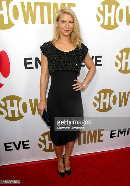 Actress Claire Danes attends the Showtime 2015 Emmy Eve party at Sunset Tower Hotel on September 19 2015 in West Hollywood California