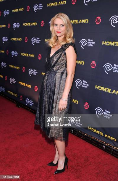 """Actress Claire Danes attends the Showtime and Time Warner Cable hosted premiere screening and reception to launch the second season of """"Homeland"""" at..."""
