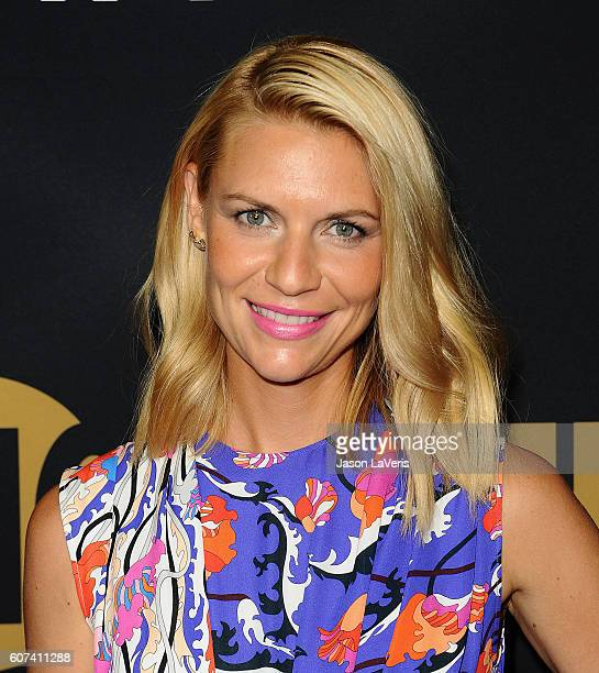 Actress Claire Danes attends the Showtime Emmy eve party at Sunset Tower on September 17 2016 in West Hollywood California