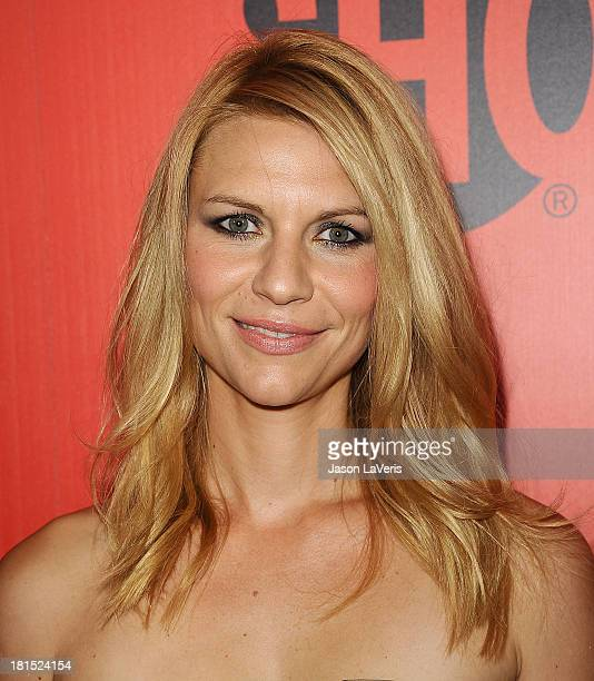 Actress Claire Danes attends the Showtime Emmy eve soiree at Sunset Tower on September 21 2013 in West Hollywood California