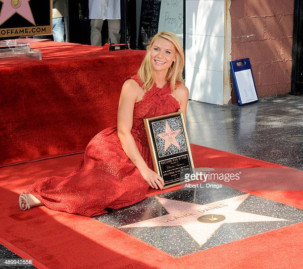 Actress Claire Danes Honored With Star On The Hollywood Walk Of Fame on September 24 2015 in Hollywood California
