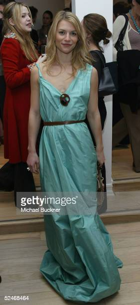 Actress Claire Danes inside at the grand opening of Marni's Los Angeles Boutique on March 22, 2005 in Los Angeles, California.