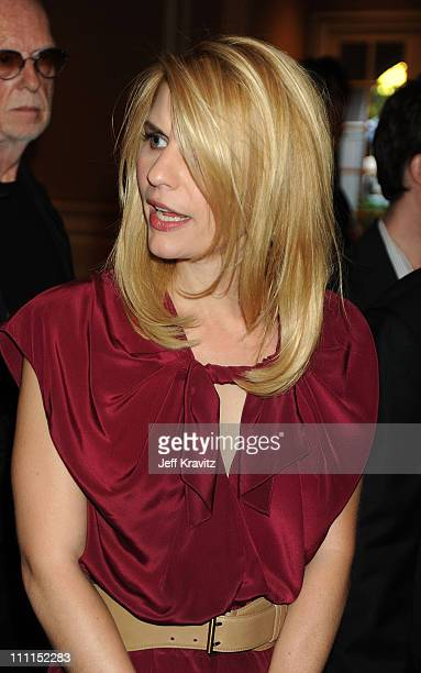 Actress Claire Danes poses during the HBO portion of the 2010 Television Critics Association Press Tour at the Langham Hotel on January 14, 2010 in...