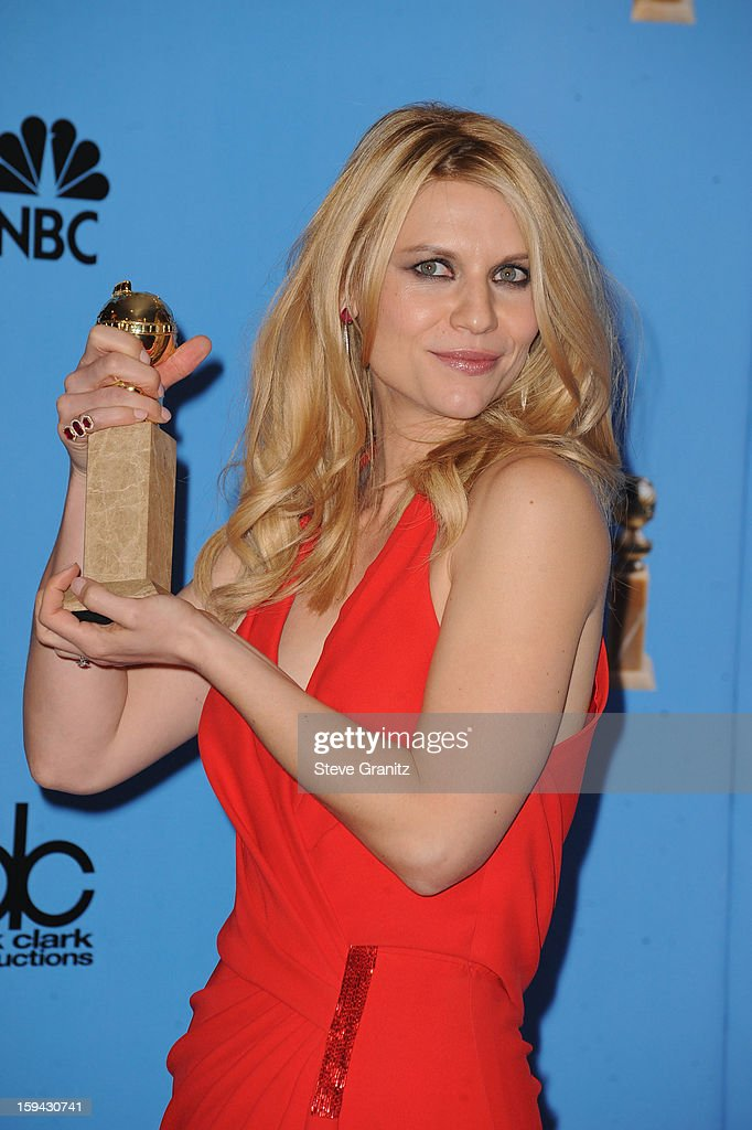 Actress Claire Danes poses in the press room at the 70th Annual Golden Globe Awards held at The Beverly Hilton Hotel on January 13, 2013 in Beverly Hills, California.