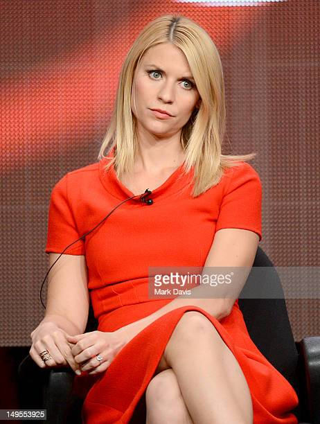 """Actress Claire Danes speaks at the """"Homeland"""" discussion panel during the Showtime portion of the 2012 Summer Television Critics Association tour at..."""