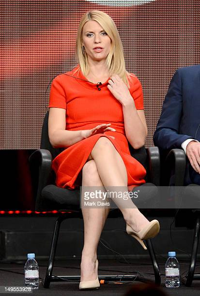 Actress Claire Danes speaks at the 'Homeland' discussion panel during the Showtime portion of the 2012 Summer Television Critics Association tour at...