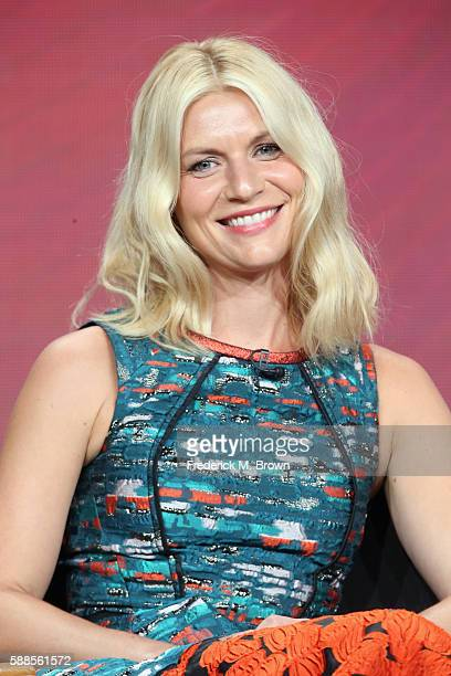 Actress Claire Danes speaks onstage at ''Homeland' Season Six Back on US Soil' panel discussion during the Showtime portion of the 2016 Television...