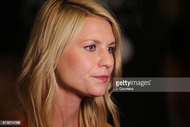 Actress Claire Danes speaks to the media at the PaleyFest New York 2016 Homeland screening and panel discussion at The Paley Center for Media on...
