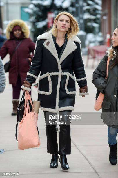 Actress Claire Danes walks in Park City on January 21 2018 in Park City Utah