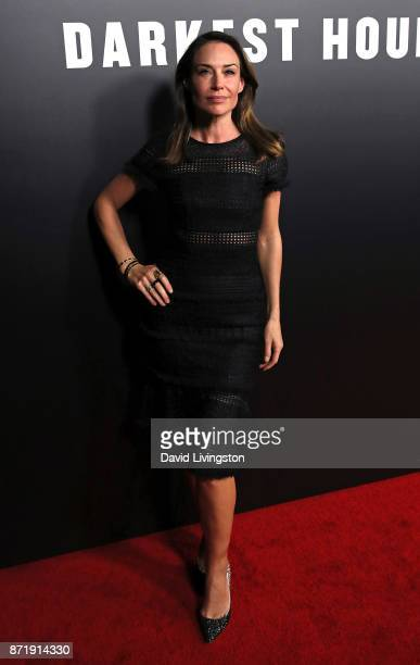 Actress Claire Forlani attends the premiere of Focus Features' Darkest Hour at the Samuel Goldwyn Theater on November 8 2017 in Beverly Hills...